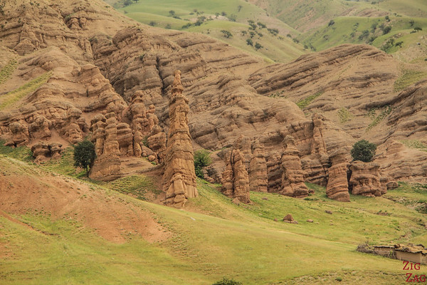 Rock formations on the road to Sary Chelek, Kyrgyzstan 2