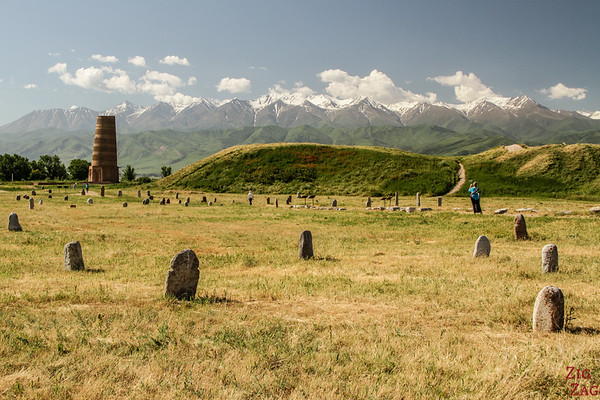 Grave marker field at the Burana Tower, Kyrgyzstan