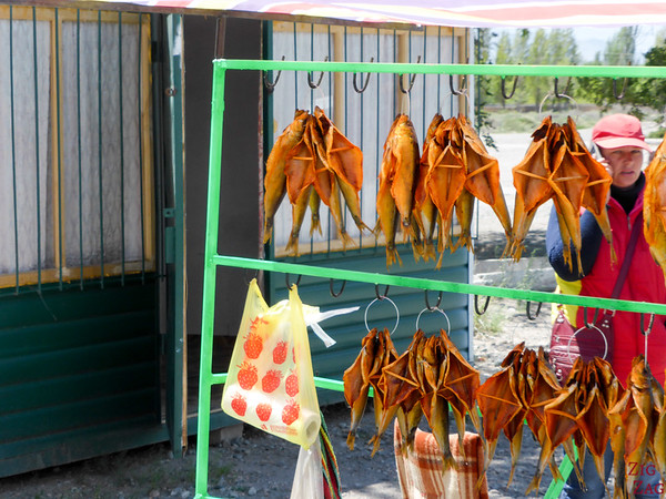 Kyrgyzstan food: dried fish