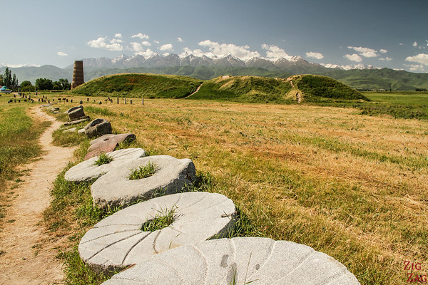 Grave marker field at the Burana Tower, Kyrgyzstan 3