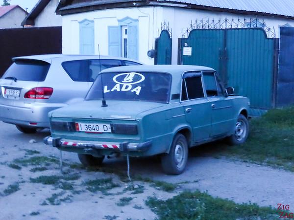 old lada car in Kyrgyzstan
