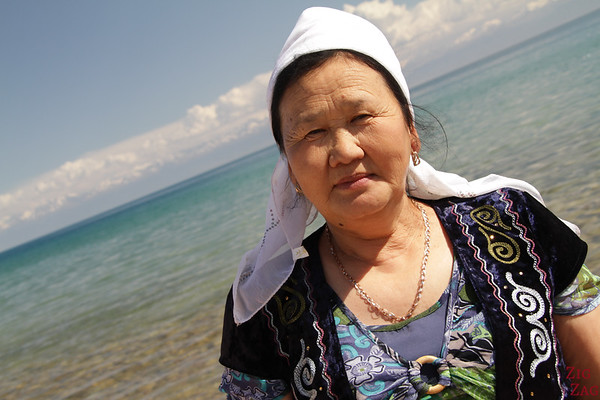 Meeting a Kyrgyz family at Lake Issyk Kul, Kyrgyzstan