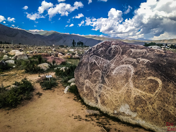main rock at Cholpon-Ata Petroglyphs Kyrgyzstan