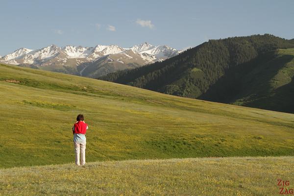 panorama over Karakol Kyrgyzstan 2