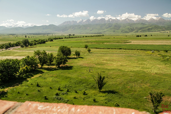 View from the top of the Burana Tower, Kyrgyzstan