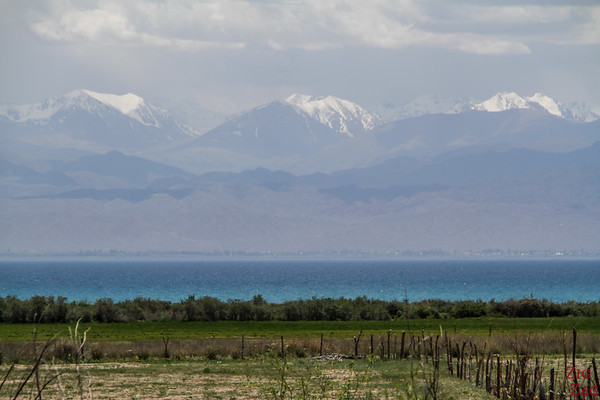 First glimpse at Issyk Kul, Kyrgyzstan 2