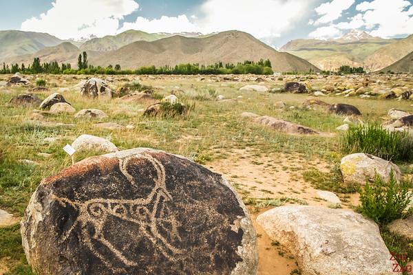 ibex at Cholpon-Ata Petroglyphs Kyrgyzstan