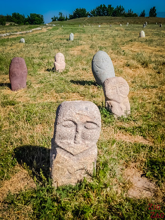 Grave markers at the Burana Tower, Kyrgyzstan