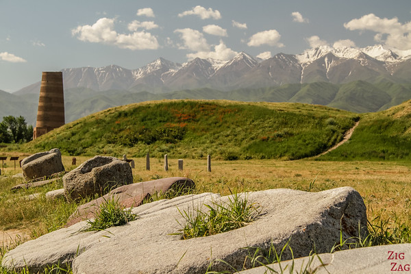 perspective at the Burana Tower, Kyrgyzstan 4