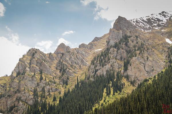mountains valley Altyn Arashan Kyrgyzstan