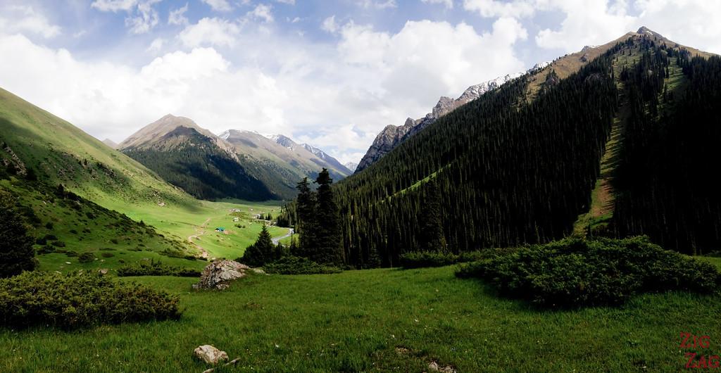 Panorama Altyn Arashan Kyrgyzstan