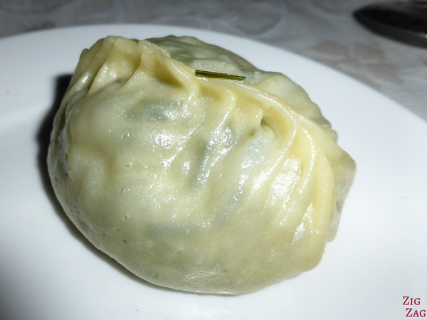 dumpling for dinner in the dining yurt in the Valley of flowers, Kyrgzystan