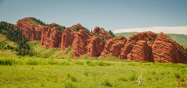 panorama 2 Jeti-Oguz, Kyrgyzstan