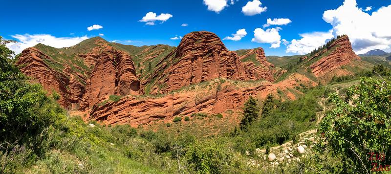 Red Rocks of Dragon Gorge, Jeti-Oguz, Kyrgyzstan
