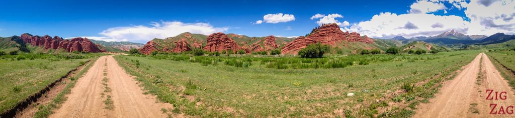 180 panorama Dragon Gorge, Jeti-Oguz, Kyrgyzstan