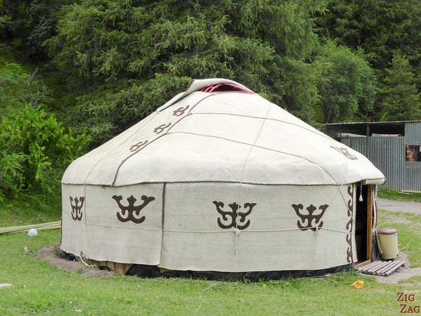 the dining yurt in the Valley of flowers, Kyrgzystan