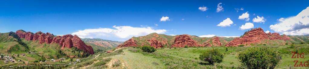 panorama 1 Dragon Gorge, Jeti-Oguz, Kyrgyzstan