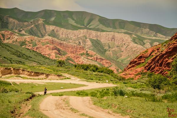 path to Dragon Gorge, Jeti-Oguz, Kyrgyzstan