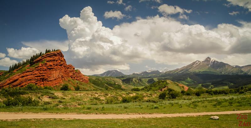 panorama 3 Dragon Gorge, Jeti-Oguz, Kyrgyzstan