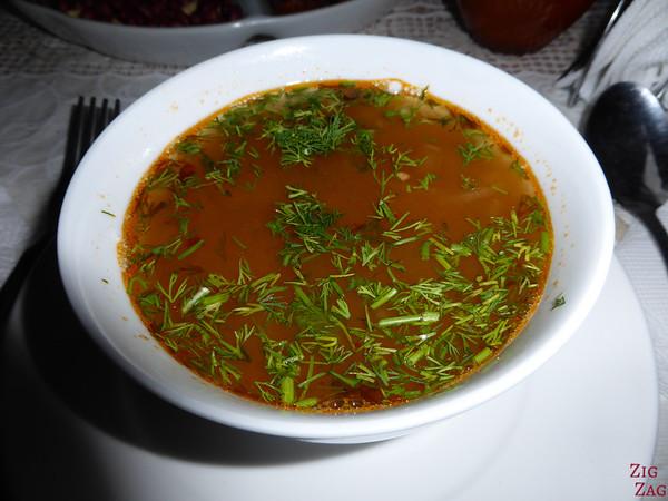 Kyrgyzstan food: soup 2