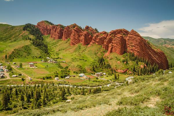 panorama 1 Jeti-Oguz, Kyrgyzstan