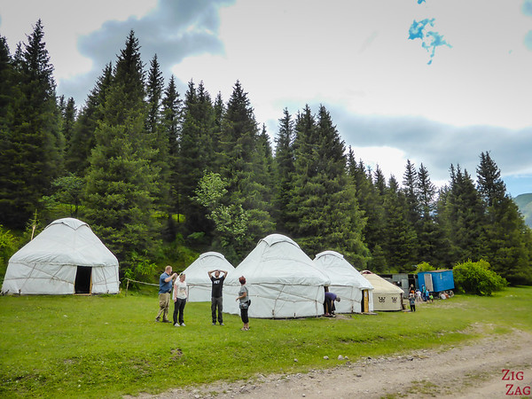 the yurt camp in the Valley of flowers, Kyrgzystan
