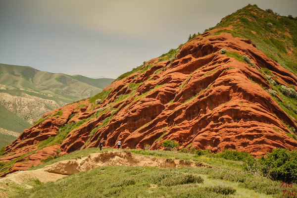 Close to the cliffs Dragon Gorge, Jeti-Oguz, Kyrgyzstan