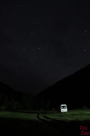 Star photography in Kyrgyzstan