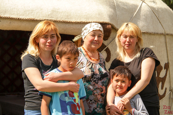 yurt host family in the Valley of flowers, Kyrgzystan