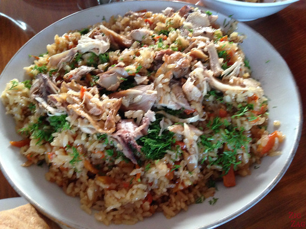 Kyrgyzstan food: traditional plov