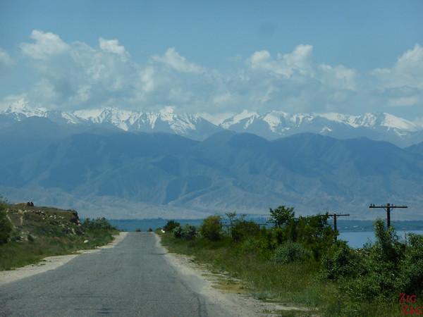 Main road Lake Issyk Kul, Kyrgyzstan