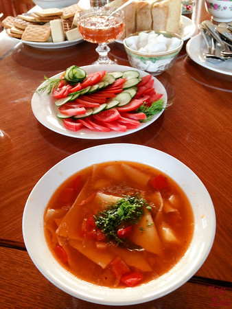 Kyrgyzstan food: soup 3