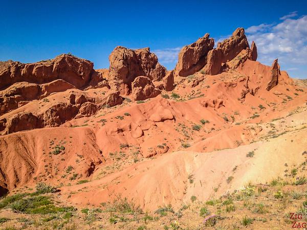 crest Skazka canyon, Kyrgyzstan