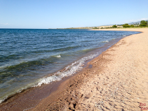 Beach at Lake Issyk Kul, Kyrgyzstan