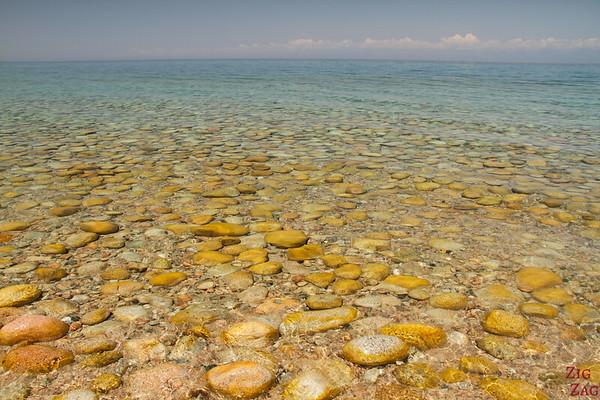 Colors of Lake Issyk Kul, Kyrgyzstan