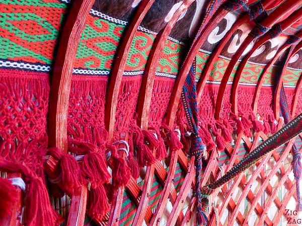 colors inside of Kyrgyz yurt 2