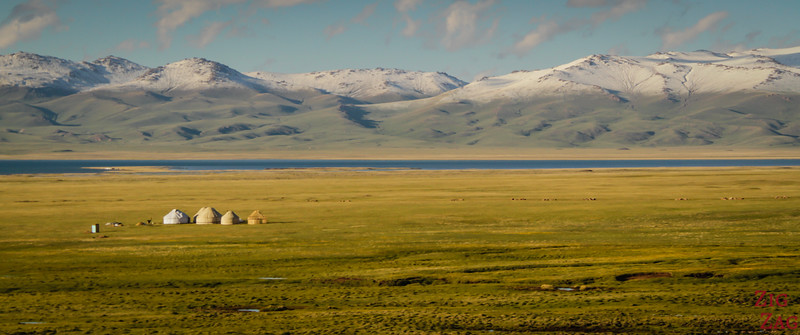 Surrounding mountains at Song Kul lake, Kyrgyzstan 4