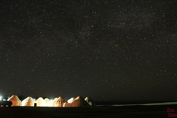 Night at  Song Kul lake, Kyrgyzstan