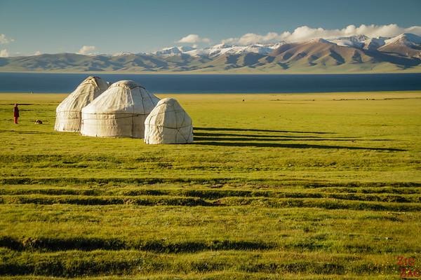 Yurt camp 2 at Song Kul lake, Kyrgyzstan