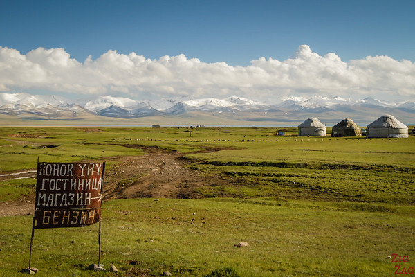 Yurt camp at Song Kul lake, Kyrgyzstan
