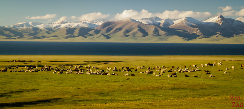 Magical Song Kul lake, Kyrgyzstan