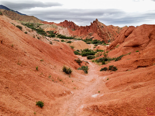 exploring the Fairy tale canyon, Kyrgyzstan 2