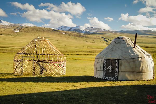 building Kyrgyz yurt
