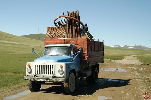 transporting Kyrgyz yurt
