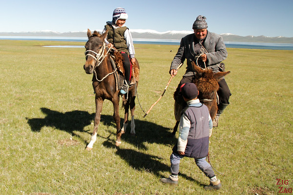 nomad herders at  Song Kul lake, Kyrgyzstan 2