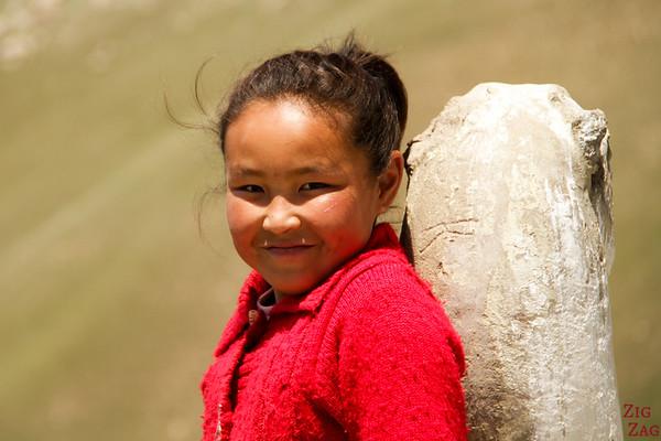 yound nomad kyrgyz girl