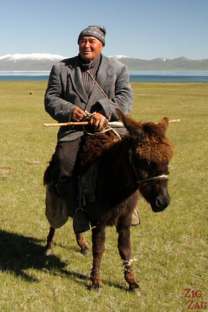 nomad herders at  Song Kul lake, Kyrgyzstan