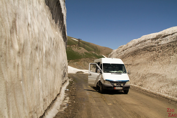 Our minibus for the tour around Kyrgyzstan