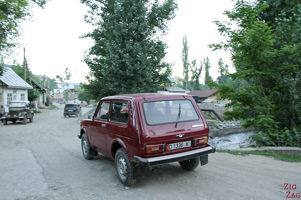 old 4WD car in Kyrgyzstan 2