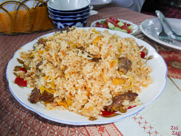 Kyrgyzstan food: traditional plov 2